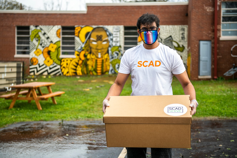 SCAD Atlanta – Winter 2021 – Community Outreach – Food Donation Drive – Arts Xchange – Photography Courtesy of SCAD