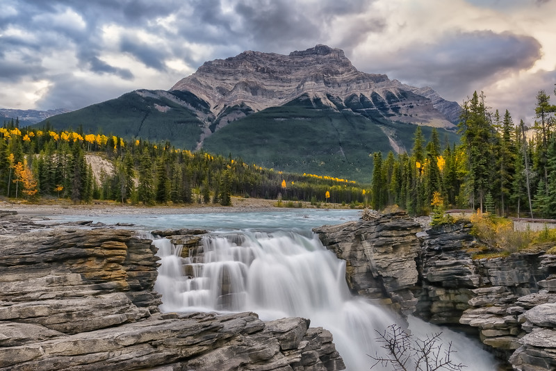 Autumn at Athabasca Falls