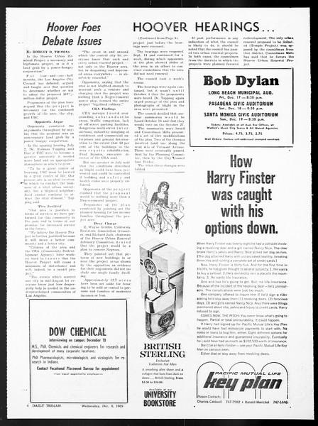 Daily Trojan, Vol. 57, No. 53, December 08, 1965