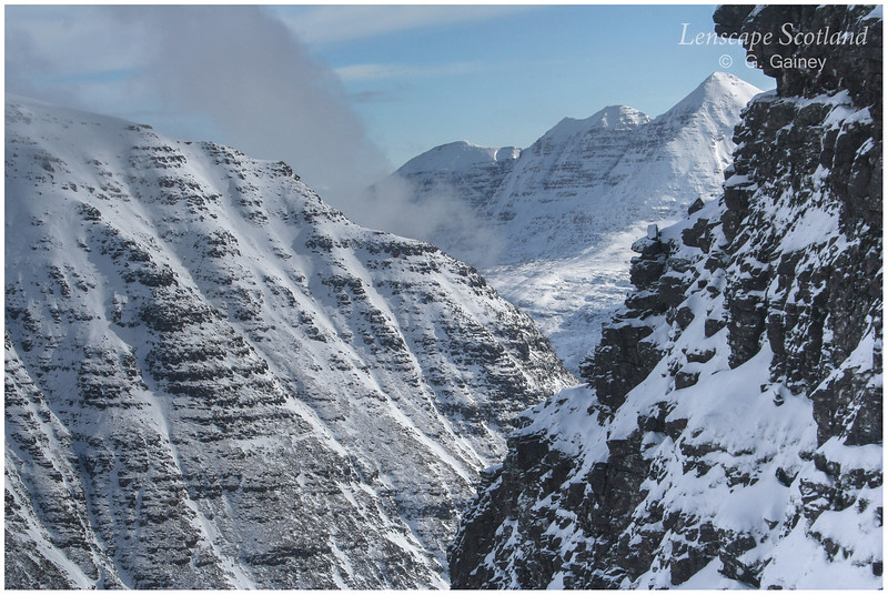 Beinn Dearg and Liathach from the Horns of Alligin