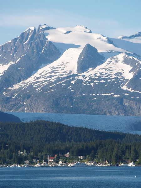 Mendenhall Glacier from Auke Bay.