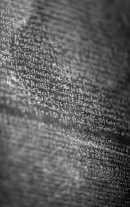 Rosetta stone. British Museum. London.