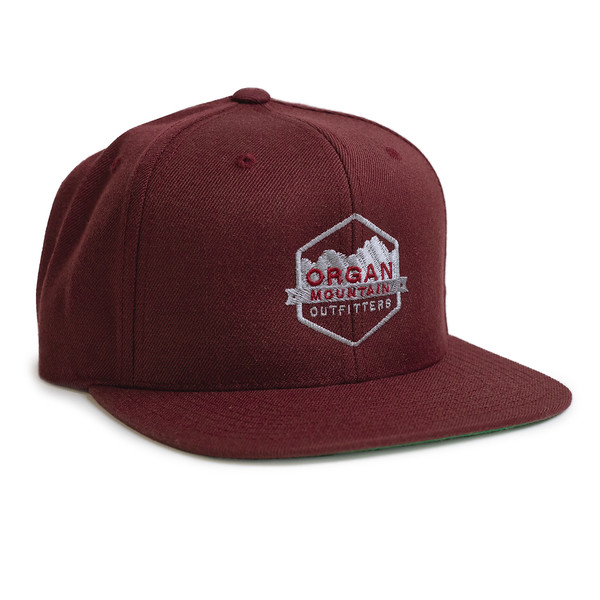 Outdoor Apparel - Organ Mountain Outfitters - Hat - Wool Blend Six-Panel Snapback - Maroon.jpg
