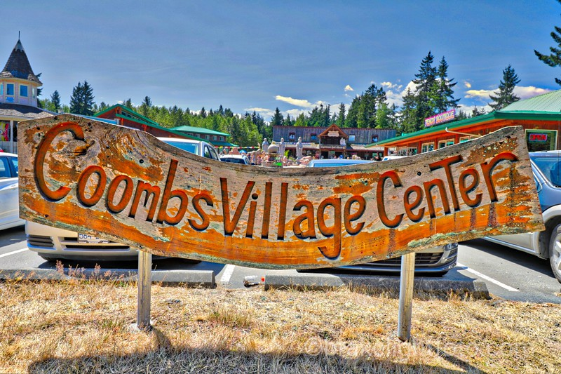 Coombs Village Center Sign