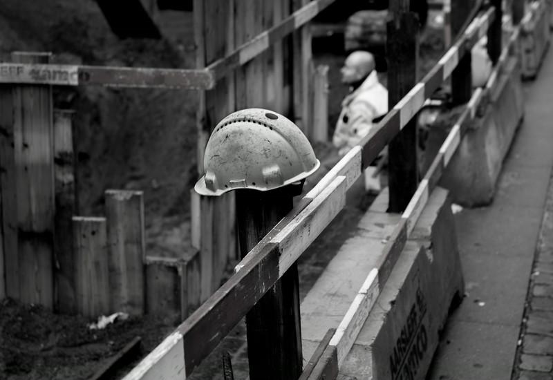 Safety helmet missing