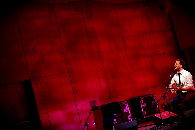 Portuguese Fado Singer Antonio Zambujo performing at the CUNY Graduate Center in NYC.