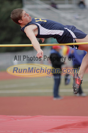 Boys' High Jump - 2014 MHSAA Region 7-1 (Milford)