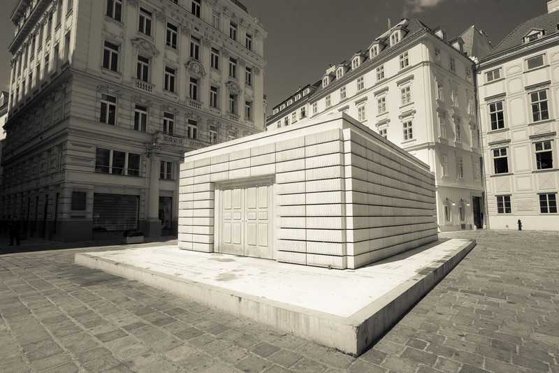 Holocaust memorial in the old Jewish enclave called Judenplatz