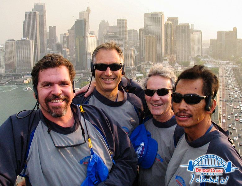 Our climbing team, including Aussie Nationa Parks CEO Peter  Cochrane (to my right), Sydney Australia, 2006