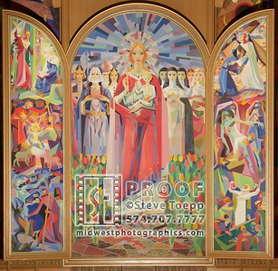 Our Lady of Hungary Murals