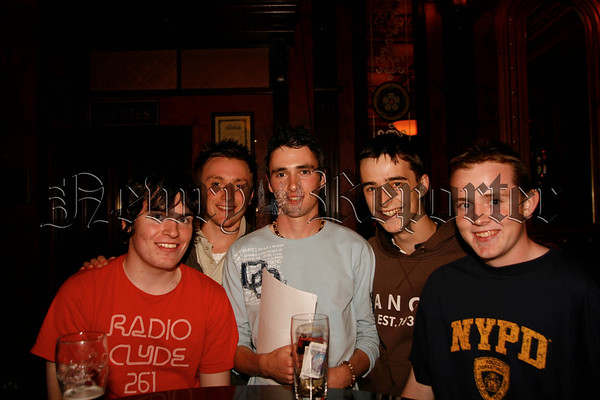 These young men supported the Table Quiz in the Canal Court in aid of the USPCA. 07W31N56
