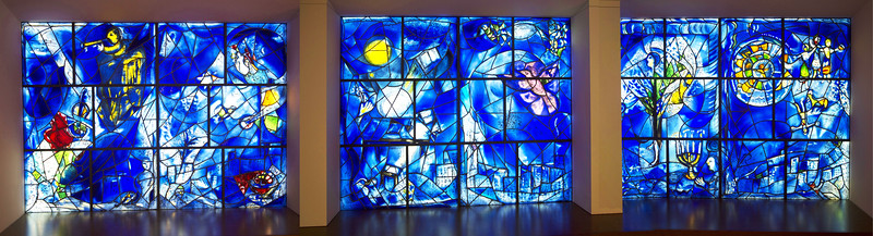 "And, as we leave, we visit the Marc Chagall's amazing ""America's Windows,"" unveiled in 1977."