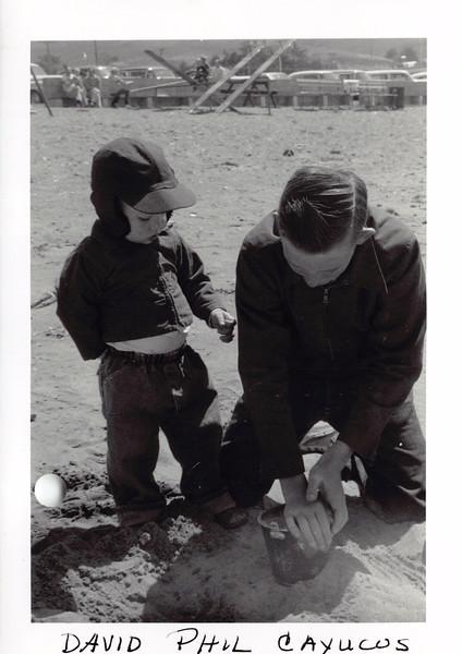 David, Phil at Cayucos, May 1956