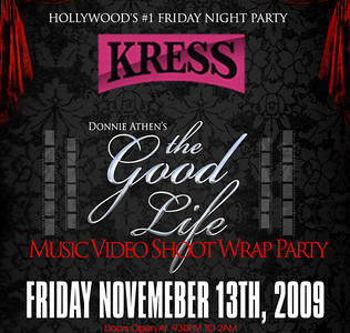 2009-11-13, The Good Life Music Video Wrap Party
