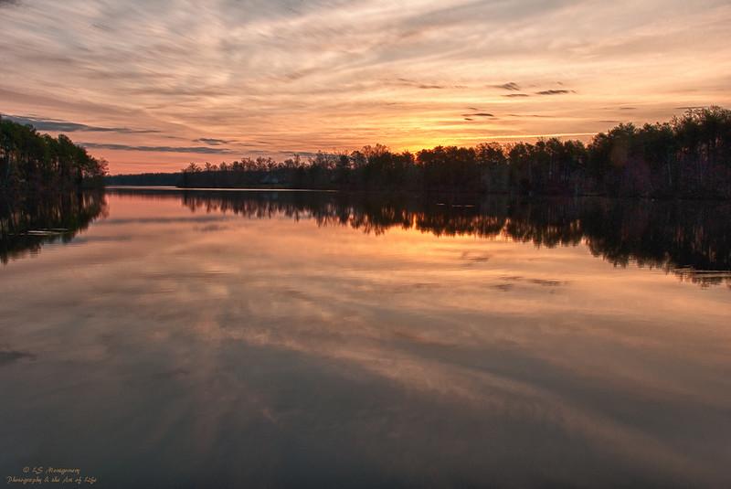 Sunrise at Lake Jeanette, NC