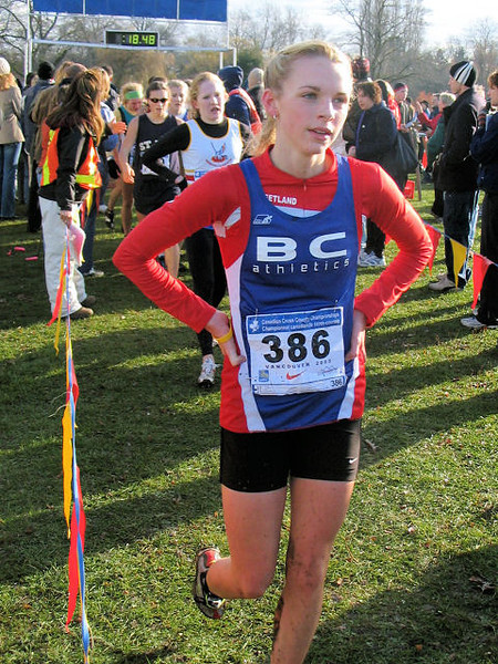 2005 Canadian XC Championships - She must be good to get her name on her shirt