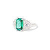 2.57ct Colombian Emerald Halo Ring, AGL-certified 1