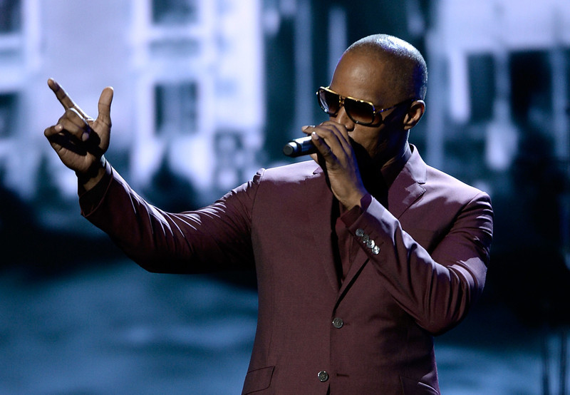 . Actor/singer Jamie Foxx performs onstage during the 2013 BET Awards at Nokia Theatre L.A. Live on June 30, 2013 in Los Angeles, California.  (Photo by Kevin Winter/Getty Images for BET)