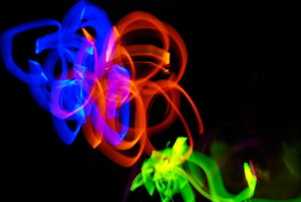 Glow Sticks at Night