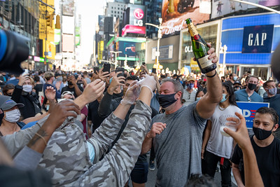 People Celebrate President Elect Joe Biden in New York