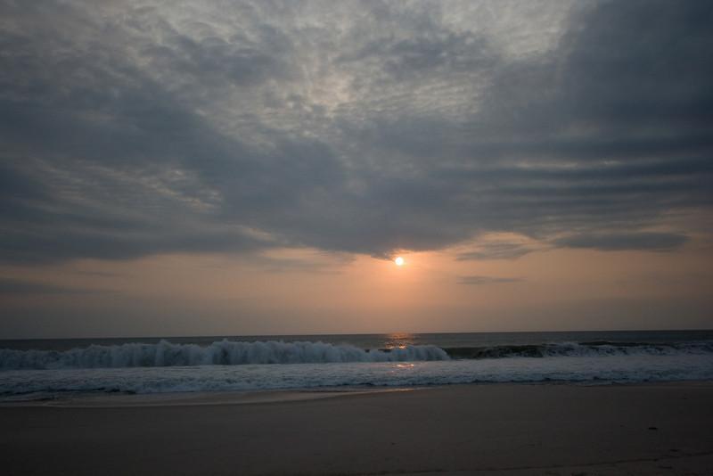 Sunset above the Atlantic Ocean.