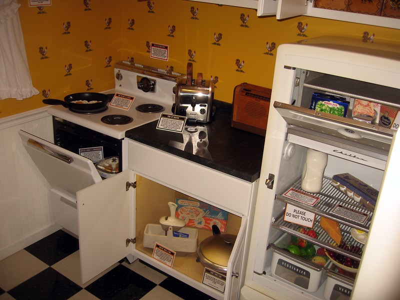 A kitchen full of patents and trademarks, in the Inventive Eats: Incredible Food Innovations exhibit, in the National Inventors Hall of Fame and Museum, at the U.S. Patent and Trademark Office (3/9/11)