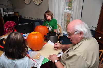 2012-10-24 - Pumpkin Carving with Grampa