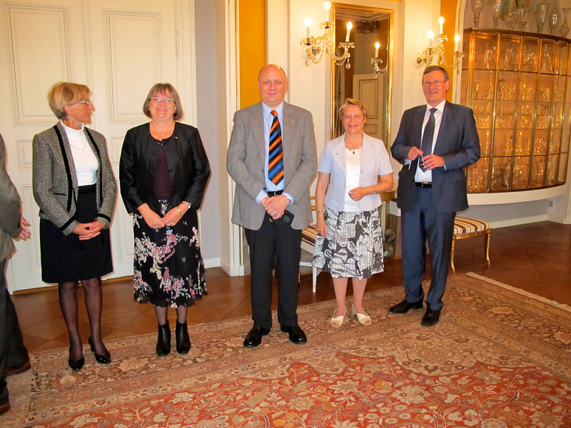 Lions Club Cahors and Lions Club Copenhagen visiting the patron of Lions Denmark, Prince Henrik at Amalienborg Castle