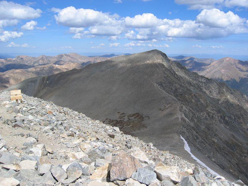 Starting descent over to Torreys.
