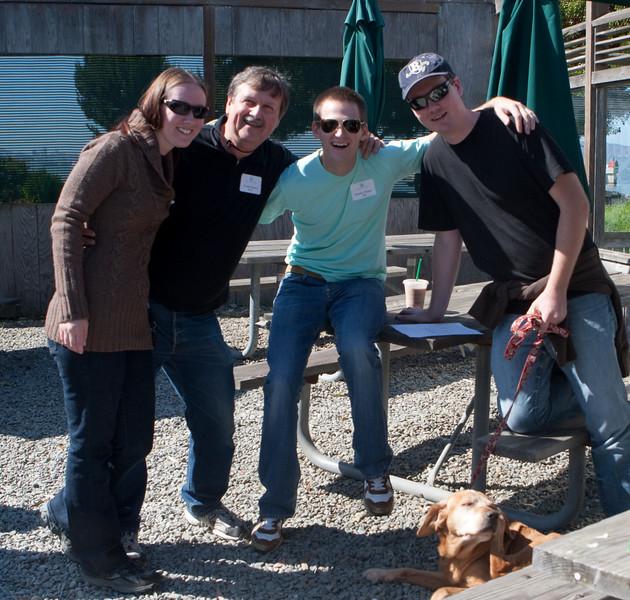 Jillian, George, Tim, and Cory
