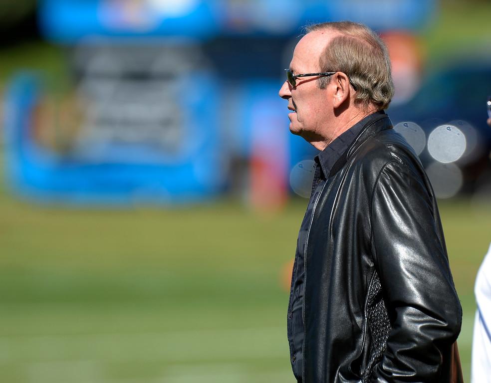 . Denver Broncos owner Pat Bowlen attends practice October 2, 2013 at Dove Valley. (Photo by John Leyba/The Denver Post)