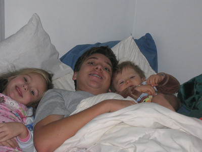 Maxwell, Katie and Jackson In Bed