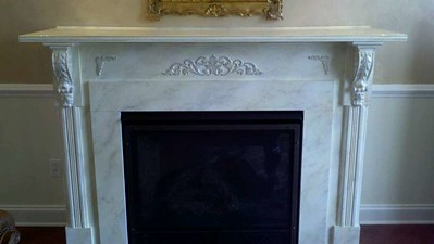 Decorated Faux Marble