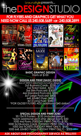 Flyer/Advertisements We Design