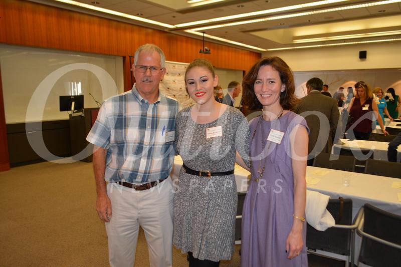 Hillside Executive Director Bob Frank, Alison Kerstiens and Associate Director Cyndi Hatcher.JPG