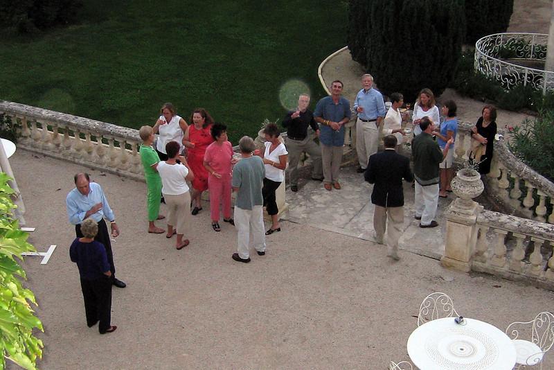 Wine on the terrace before dinner