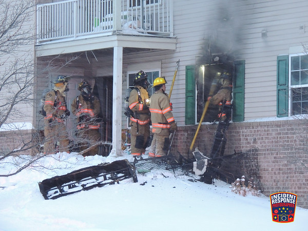 Apartment fire on December 17, 2016