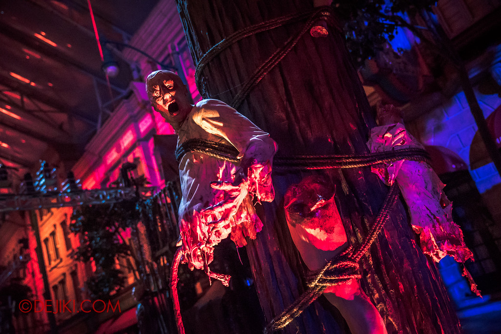 Halloween Horror Nights 7 Review - Pilgrimage of Sin scare zone / torture pillar
