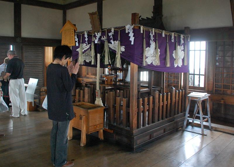 The Osakabe Shrine, inside the main tower of Himeji Castle