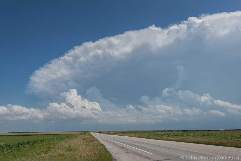 A severe thunderstorm in Texas