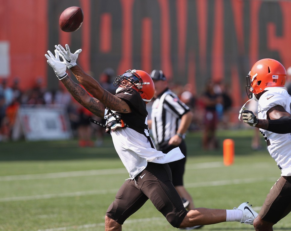 . Tim Phillis - The News-Herald Photos from Cleveland Browns training camp on Aug. 12, 2018, in Berea.
