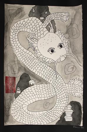 5th Pen & Ink Dragon Drawings