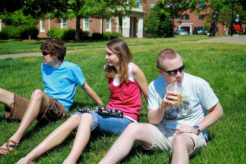 Students on the Campus of Gardner-Webb University; Spring 2011.