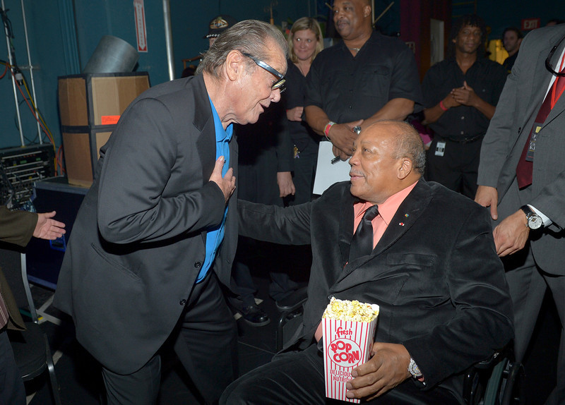 . Actor Jack Nicholson (L) and Quincy Jones attend a celebration of Carole King and her music to benefit Paul Newman\'s The Painted Turtle Camp at the Dolby Theatre on December 4, 2012 in Hollywood, California.  (Photo by Charley Gallay/Getty Images for The Painted Turtle Camp)