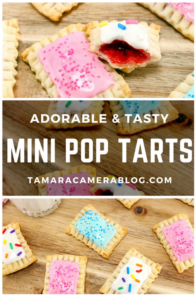 Are you looking for the most adorable, tasty, crowd-pleasing recipe ever? Make this Mini Pop Tart Recipe! They're easy to make for any parties or brunches.