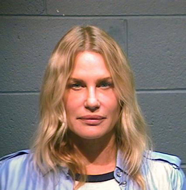 . In this handout photo provided by the Wood County Sheriff\'s Department, actress Daryl Hannah is seen in a police booking photo October 4, 2012 in Quitman, Texas.  Hannah was arrested while protesting the Keystone XL oil pipeline October 4, 2012 in Winnsboro, Texas.  She was reportedly charged with criminal trespassing and resisting arrest.  Hannah was released on bond.  (Photo by Wood County Sheriff\'s Department via Getty Images)