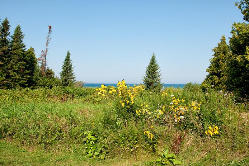 052 Michigan August 2013 - Grand Traverse Lighthouse Shore.jpg