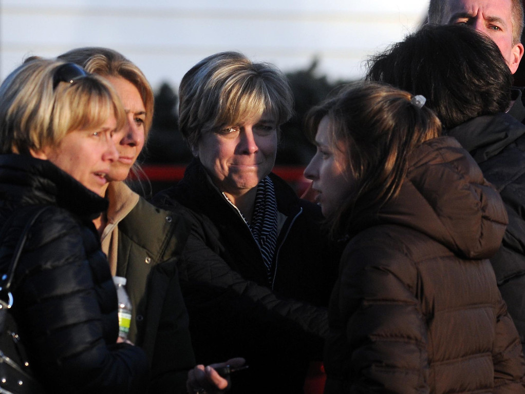. Outside the firehouse near the Sandy Hook School in Newtown, shooting aftermath.  Mara Lavitt/New Haven Register  12/14/12