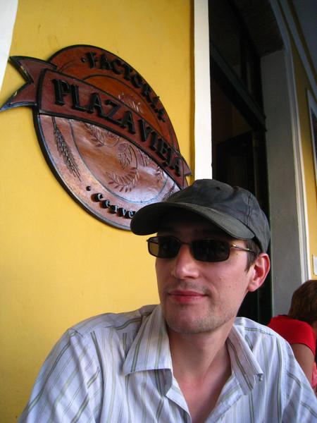 At the Austrian brew-pub at Plaza Vieja