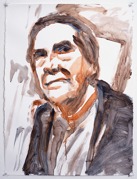 Portrait study - John C Moore v2; acrylic on paper, 22 x 30 in, 2005